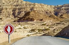 Free Desert Road In Timna Park, Israel Royalty Free Stock Photography - 23228017