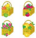 Free Set Of Baskets Stock Image - 23231611