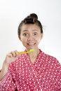 Free Woman Brushing Teeth Stock Photos - 23233033