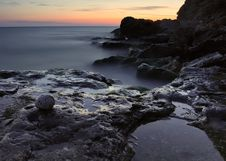 Free Nightly Sea Royalty Free Stock Photo - 23230835