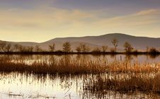 Mountain Lake At Sunset Stock Photography