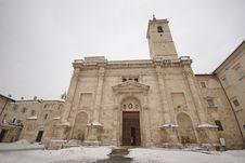 Free Arringo S Square And St Emidio S Church Royalty Free Stock Image - 23232746