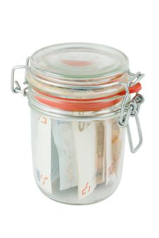 Glass Jar With The Money Royalty Free Stock Photos