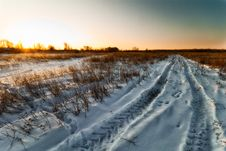 Free Winter Rural Landscape Royalty Free Stock Photography - 23234377