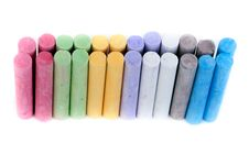 Box With Children S Crayons Royalty Free Stock Images