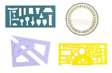 Free A Collage Of The School Dileek And A Protractor Stock Images - 23235014