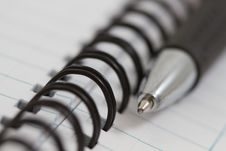Free Spiral Notebook And Pen Stock Photos - 23235873