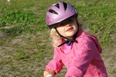 Free Littlle Girl On A Bike Stock Photography - 23236812