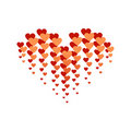 Free Red And Orange Heart,  Isolated On White Royalty Free Stock Photos - 23245138