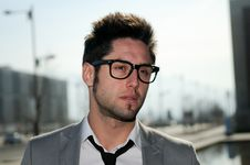 Handsome Young Businessman With Eyesglasses Royalty Free Stock Photo