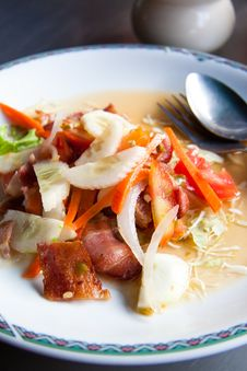 Free Bacon Salad &x28;Thai Style&x29; Royalty Free Stock Image - 23242456
