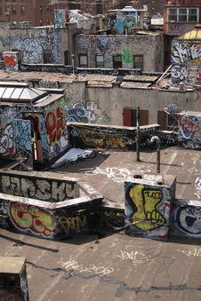 Free Graffiti Rooftop Stock Image - 23244541