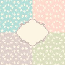 Free Seamless Floral Background Royalty Free Stock Photo - 23244775