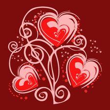 Free Lovely Red Heart,  Illustration Stock Photo - 23245120