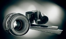 Free Lens & Film Strip Royalty Free Stock Images - 23248019