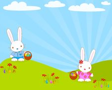 Free Easter_bunnies_egg Stock Images - 23248324