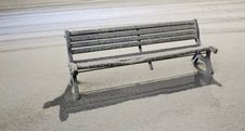 Free Bench Under Snowfall Stock Photos - 23248503