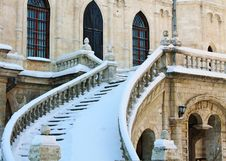 Staircase Of The Church Stock Images