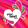 Free Background Heart With Text Pink Stock Photography - 23258472