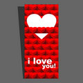 Free Valentine Day Card Red I Stock Images - 23258614