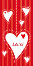 Free Hanging Hearts Vertical Postcard Royalty Free Stock Photos - 23259208