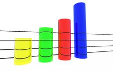 Free Round Colored Statistics Stock Photos - 23251283