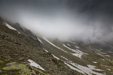 Dramatic Storm Cloud Scenery In High Mountains Royalty Free Stock Photography