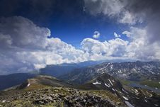Free Blue Sky And  Cloud Scenery In High Mountains Royalty Free Stock Photo - 23252195