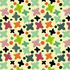 Free Butterflies Pattern Stock Photos - 23253693