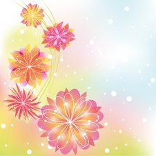 Free Abstract Springtime Colorful Flower Stock Image - 23254221