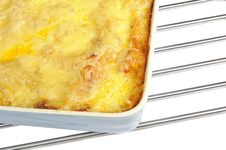 Free Lasagna In Ceramic Baking Dish Royalty Free Stock Photography - 23257737