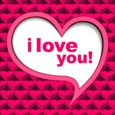 Valentine S Card Background Pink Stock Image
