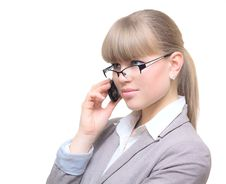 Free Business Woman With Cell Phone Stock Image - 23259521