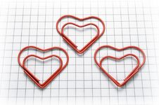Free Heart Shaped Paper Clips Stock Image - 23260821