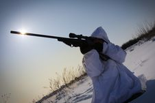 Free Winter Sniper Stock Images - 23265284