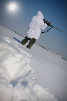 Free Winter Sniper Stock Images - 23265384