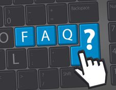 Free F.A.Q. - Frequently Asked Questions Stock Image - 23265701