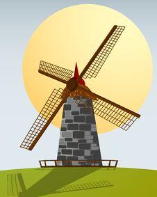 Free Windmill Royalty Free Stock Image - 23266136