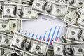 Free Business Chart Surrounded By Money Stock Photo - 23274870