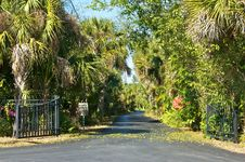 Free Entrance To Tropical Private Road Royalty Free Stock Images - 23270369