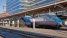Free Trains At The Station Stock Image - 23270641