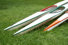 Free Racing Kayaks On Grass Royalty Free Stock Photo - 23271435