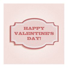 Free Valentine S Day Card Design Royalty Free Stock Photos - 23276378