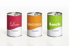 Free Can With Message Royalty Free Stock Images - 23279089