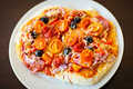 Free Pizza Salami Stock Photography - 23284052