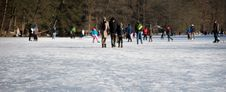 Free Walking On A Frozen Lake Stock Photo - 23280640