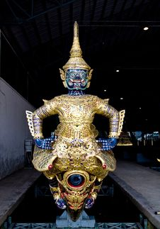 Prow Of The Emperor S Barge, Bangkok, Thailand Stock Images