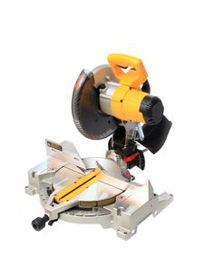 Free Miter Saw Isolated On White Royalty Free Stock Image - 23282456