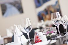 Free Restauraant Table Setup Royalty Free Stock Images - 23283129