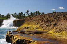 Lava Rock Islote Stock Image